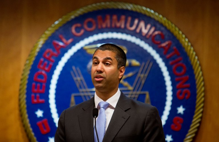 Ajit Pai, FCC chairman  Ph: Eric Thayer for The New York Times